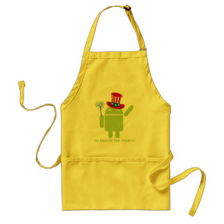 Celebrate The Fourth (Android Bug Droid) Standard Apron