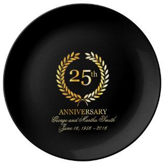 Celebrating 25th Anniversary. Porcelain Plates