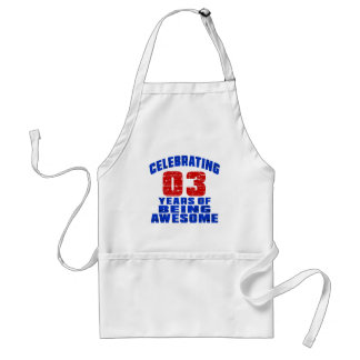 Celebrating 3 years of being awesome standard apron