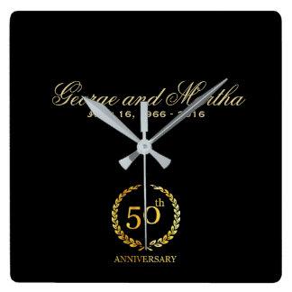 Celebrating 50th Anniversary. Customizable. Wall Clocks
