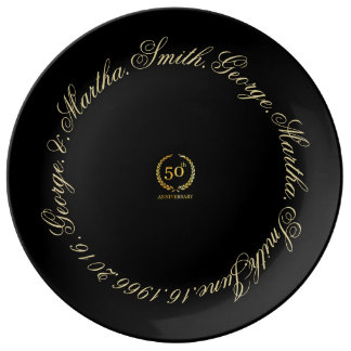 Celebrating 50th Anniversary. Porcelain Plate
