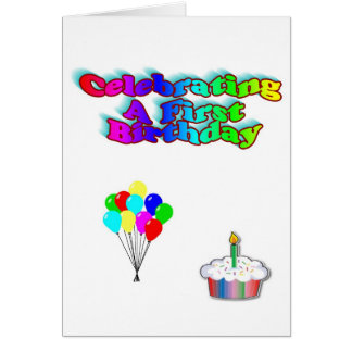 Celebrating A First Birthday Card