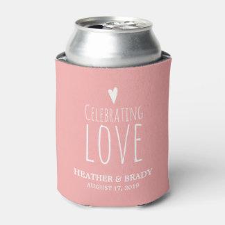 Celebrating Love   Wedding Can Cooler