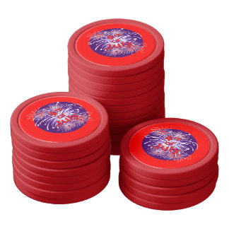 Celebration 4th of July Fireworks Poker Chip Set