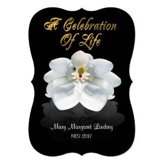 Celebration of life Invitation magnolia