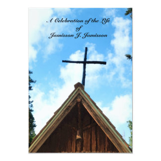 Celebration of Life Invitation, Old Country Church Card