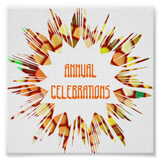 CELEBRATIONS:  Edit text to your own OCCASION Poster