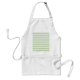 Celery Root Mint And Horizontal White Larg Stripes Apron