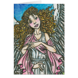 Celeste Angel Seasons Greeting Holiday Card