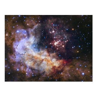 Celestial Fireworks in Space Postcard