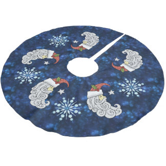 Celestial Santa Brushed Polyester Tree Skirt