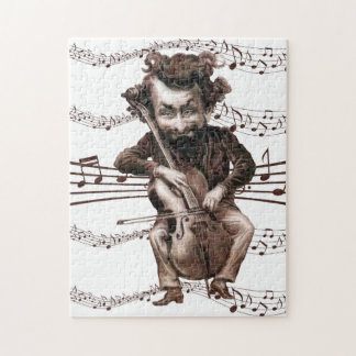 Cello Chops | Vintage Muscian | Funny Jigsaw Puzzle
