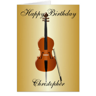 Cello Just Add Name Birthday Card