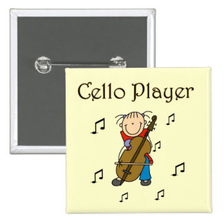 Cello Player Tshirts and Gifts Buttons