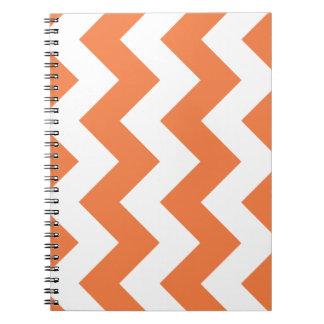 Celosia Orange Chevron Zigzag Notepad Spiral Notebook