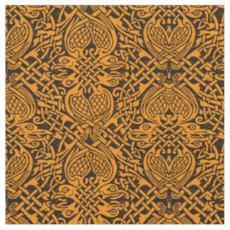 Celtic Bird Weave in Gold Fabric