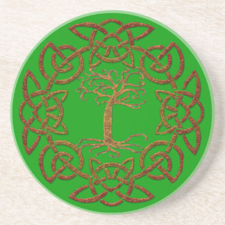 Celtic Circle & Tree Irish-style Drinks Coaster