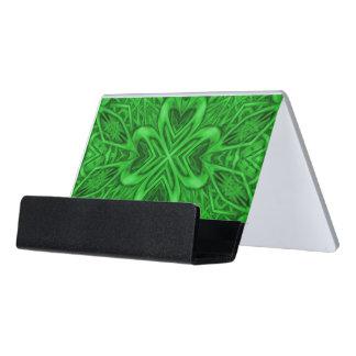 Celtic Clover Desk Business Card Holder