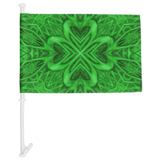 Celtic Clover Kaleidoscope Car Flag