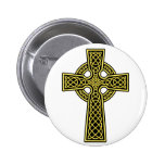 Celtic Cross gold and black Buttons