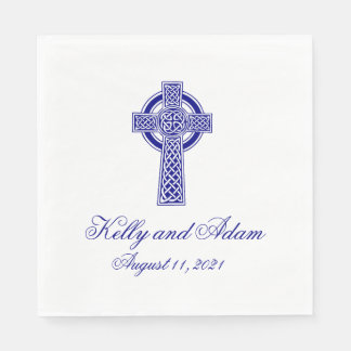 Celtic Cross Personalised Wedding Paper Napkin