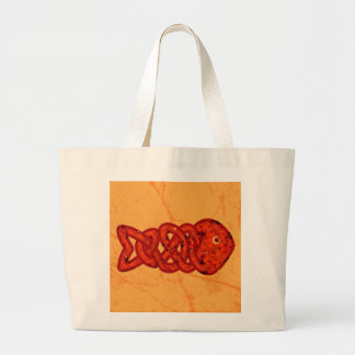 Celtic fish large tote bag