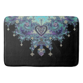 Celtic Heart Fractal Tapestry Bath Mat