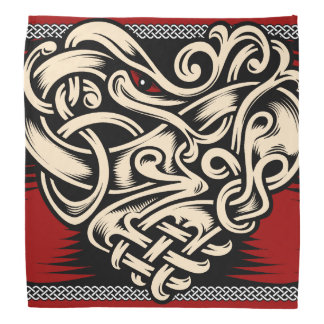Celtic Heart red black white Bandana