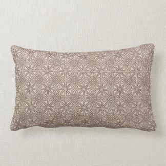 Celtic Knot Brown Pattern Lumbar Pillow