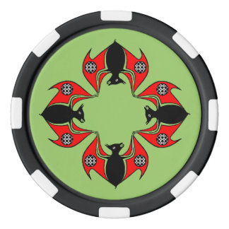 Celtic Knot Colony of Bats Bat Night Poker Chip
