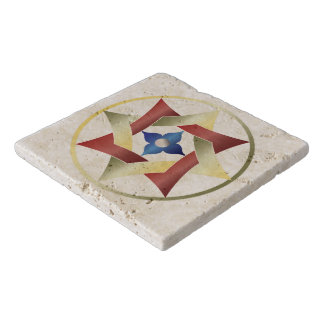 Celtic Knot Star in a Circle - Stone Trivet 1