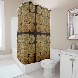 Celtic Knotwork Cross Shower Curtain