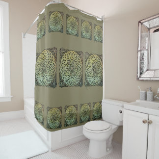 Celtic Knotwork Mandala Shower Curtain