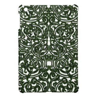 Celtic Knotwork Vine Pattern Green ipad mini case