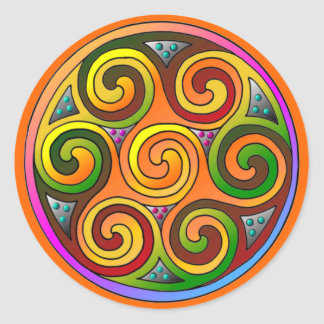 Celtic Markings Classic Round Sticker