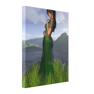 Celtic Princess in the Mountains Gallery Wrap Canvas