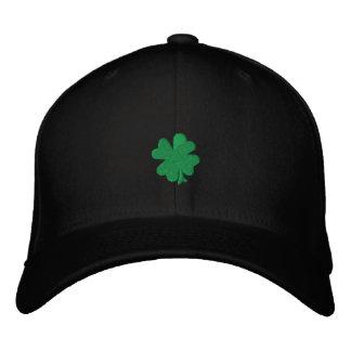 "Celtic Quest ""Green Clover"" FlexFit Hat Embroidered Baseball Cap"