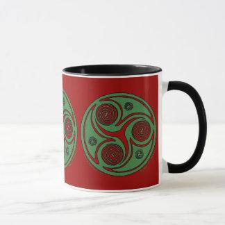 Celtic Spiral Christmas Mugs