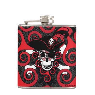 Celtic Spiral Pirate Hip Flask