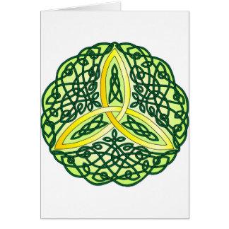 Celtic Trinity Knot Green Card