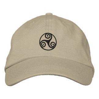 Celtic Triskele Embroidered Hat