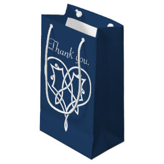 Celtic Weave Hearts in Navy Gift Bag