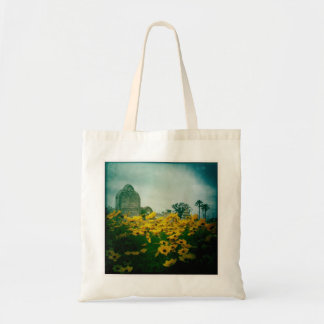Cemetery & Flowers Tote Bag