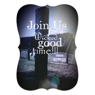 "Cemetery Themed 5"" x 7"" Invitations"