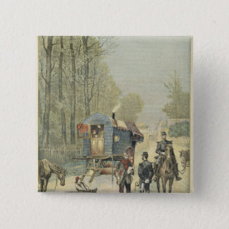 Census of Travellers in France 15 Cm Square Badge