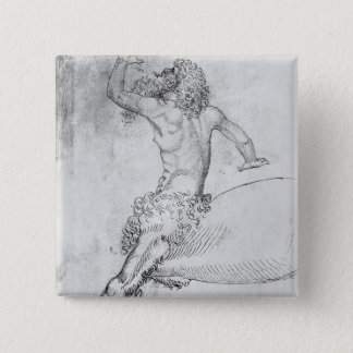 Centaur, from the The Vallardi Album 15 Cm Square Badge
