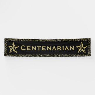 """CENTENARIAN"" 100th Birthday Black and Gold Theme"