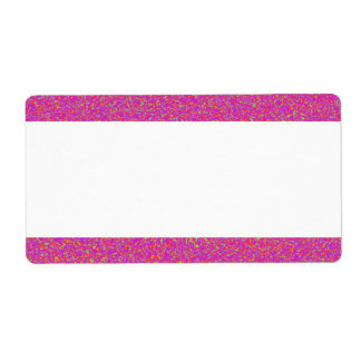 Center Band - Color Marbling Shipping Label