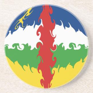 Centrafrique Gnarly Flag Beverage Coaster