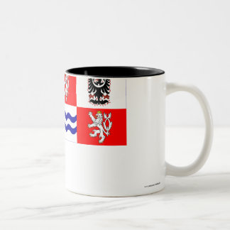 Central Bohemia Flag Two-Tone Coffee Mug